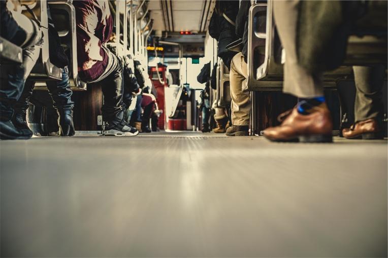 Feet bus full of people