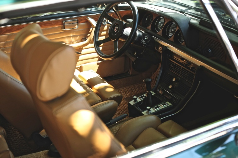 Old car interior