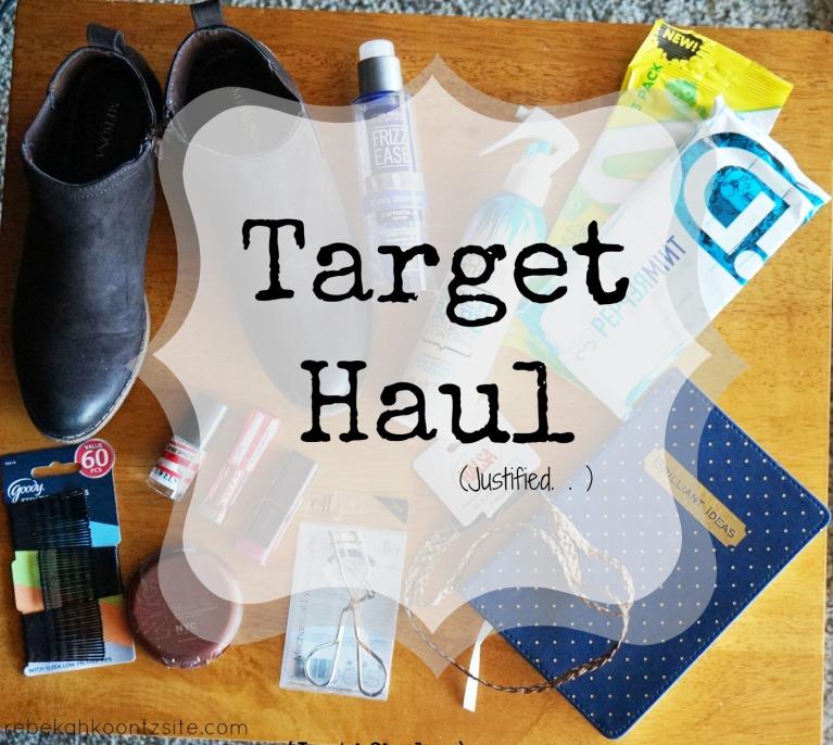 Target haul 1 Justified