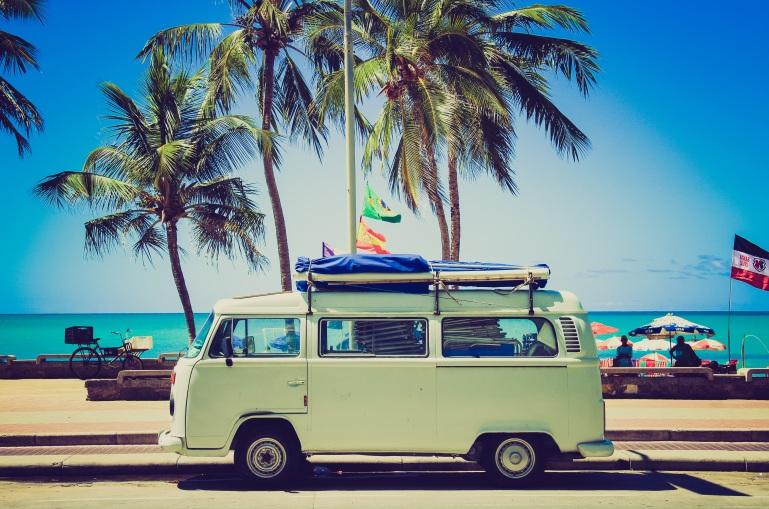 VW at the beach