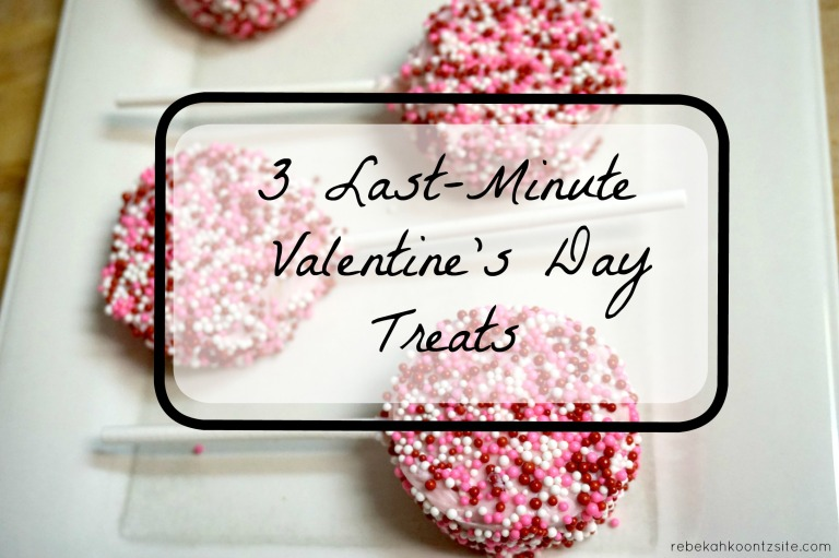 3 last-minute valentine's Day treats