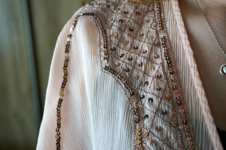 Boho sequin detail