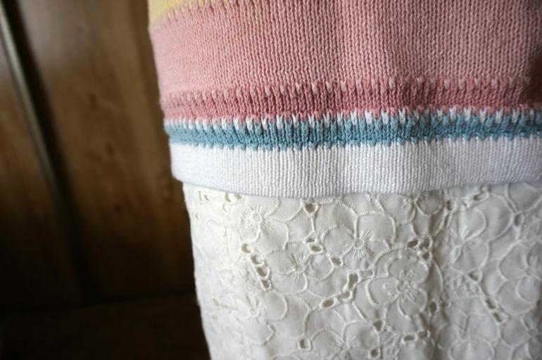 Detailed floral skirt