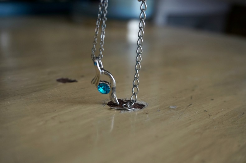 Half heart necklace