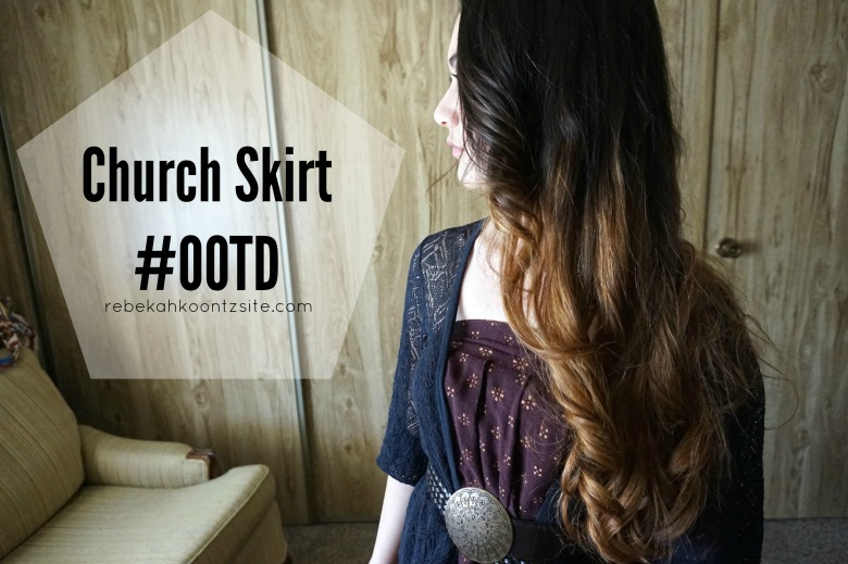 Church skirt #OOTD