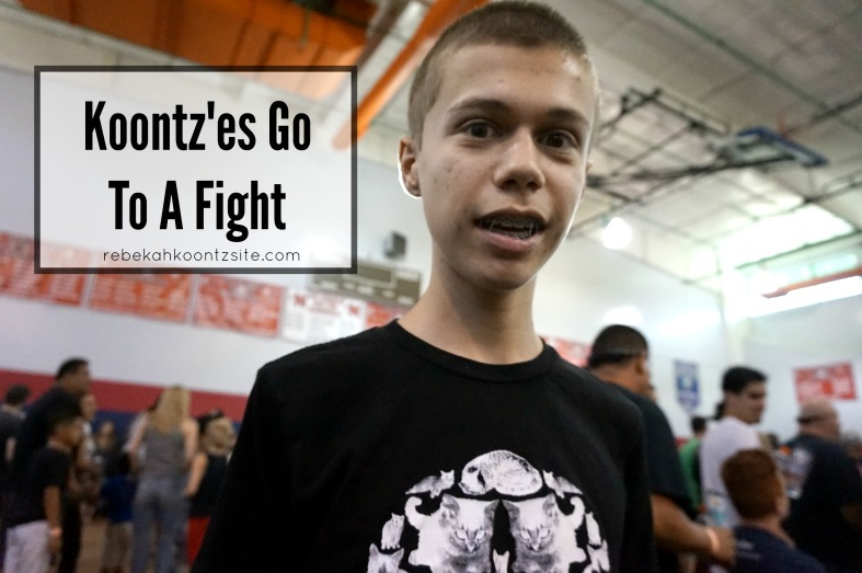 Koontz'es go to a fight