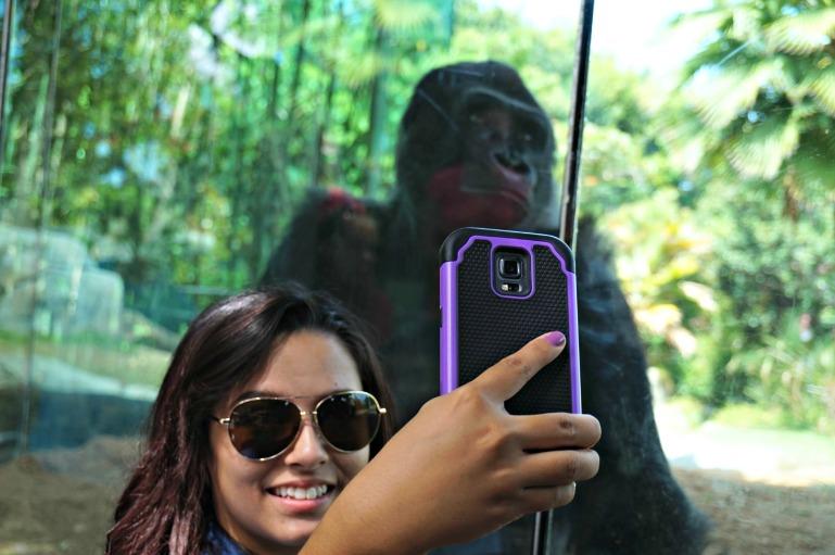 Lorraine selfie San Diego Zoo