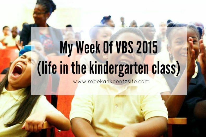 VBS 2015 Kindergarten Class