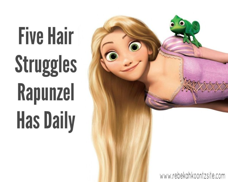 Five hair struggles Rapunzel has daily. Tangled. Humor