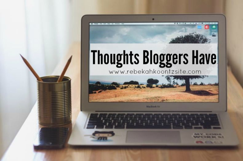 Thoughts Bloggers Have. Humor