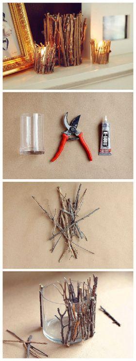 DIY stick candle