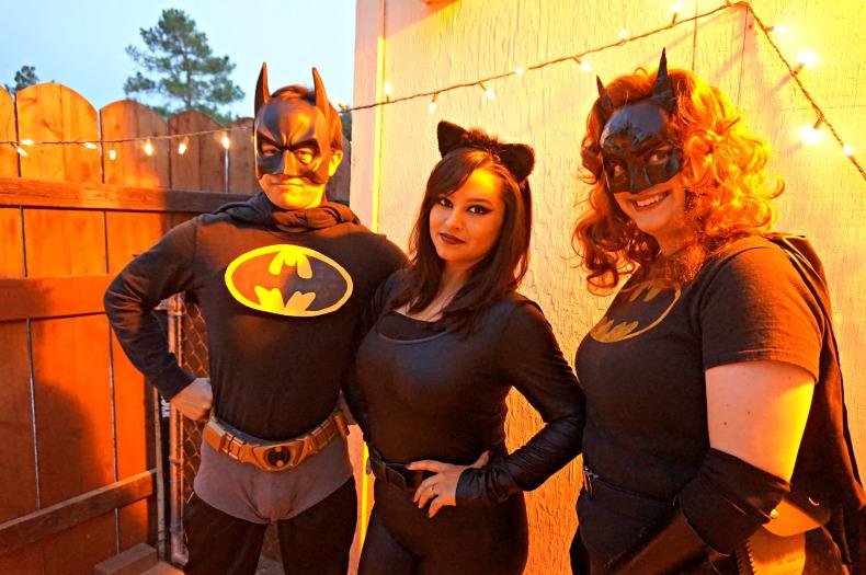 Bat man, cat woman, bat woman