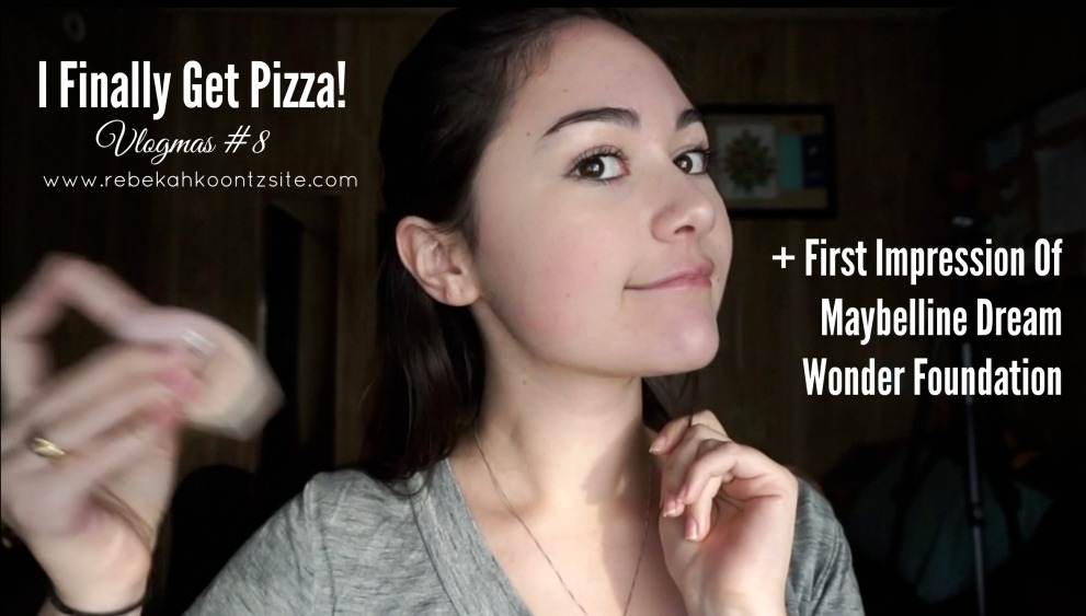 I finally get pizza first impression of maybelline dream wonder foundation