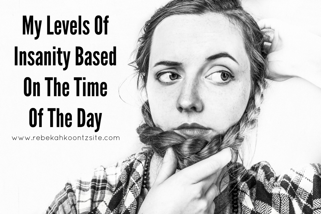 My levels of insanity based on the time of the day humor funny lifestyle blogger post
