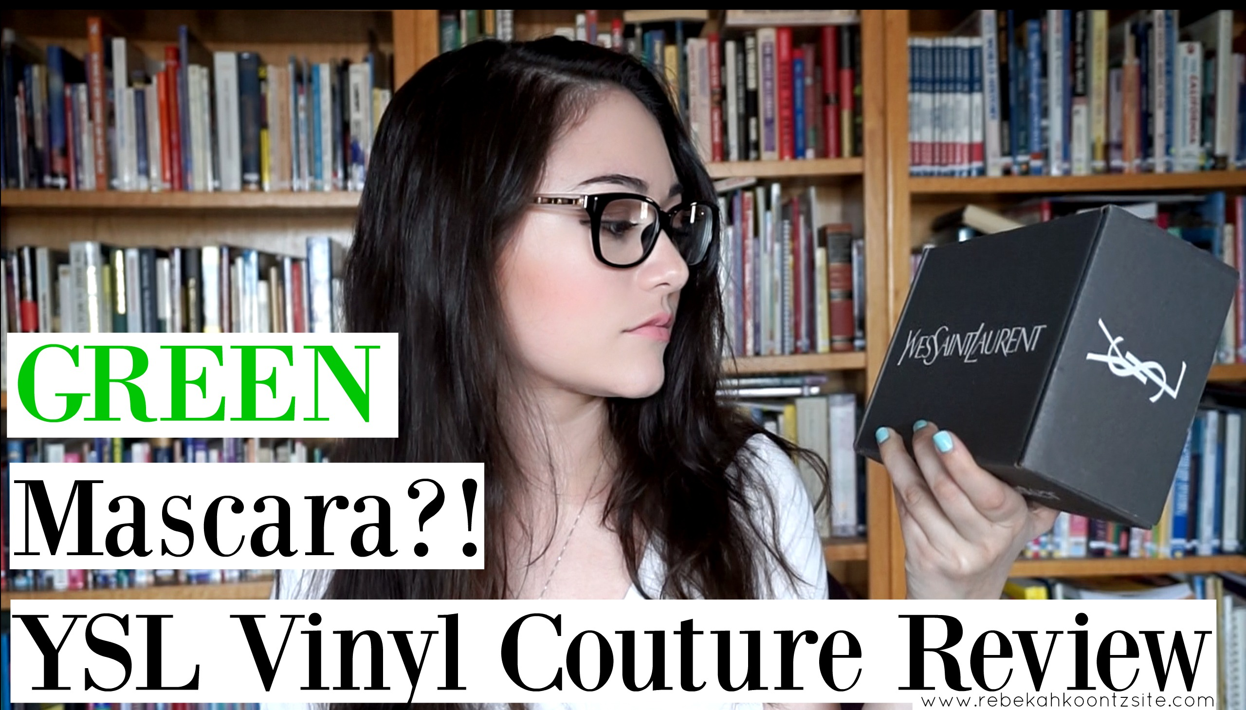 Green mascara YSL Vinyl Couture review youtube video makeup