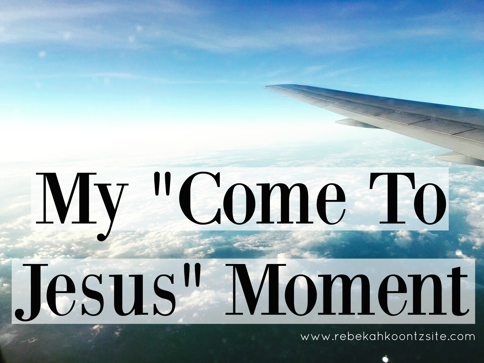 My come to jesus moment 1