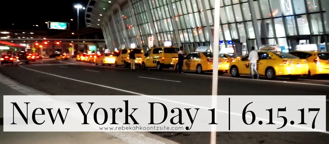 New York Day 1 life lifestyle rebekah koontz travel