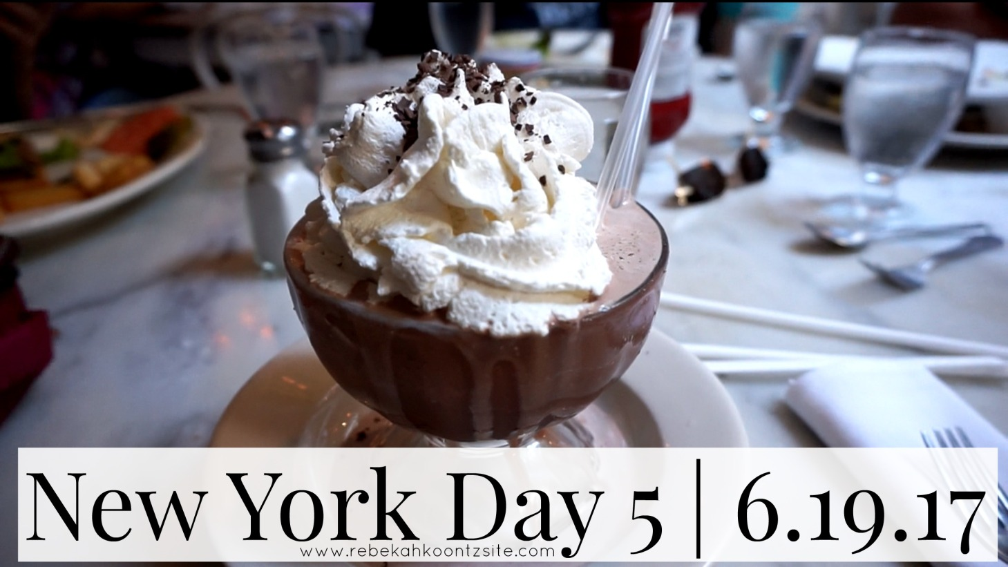 New York day 5 serendipity frozen hot chocolate travel family life lifestyle