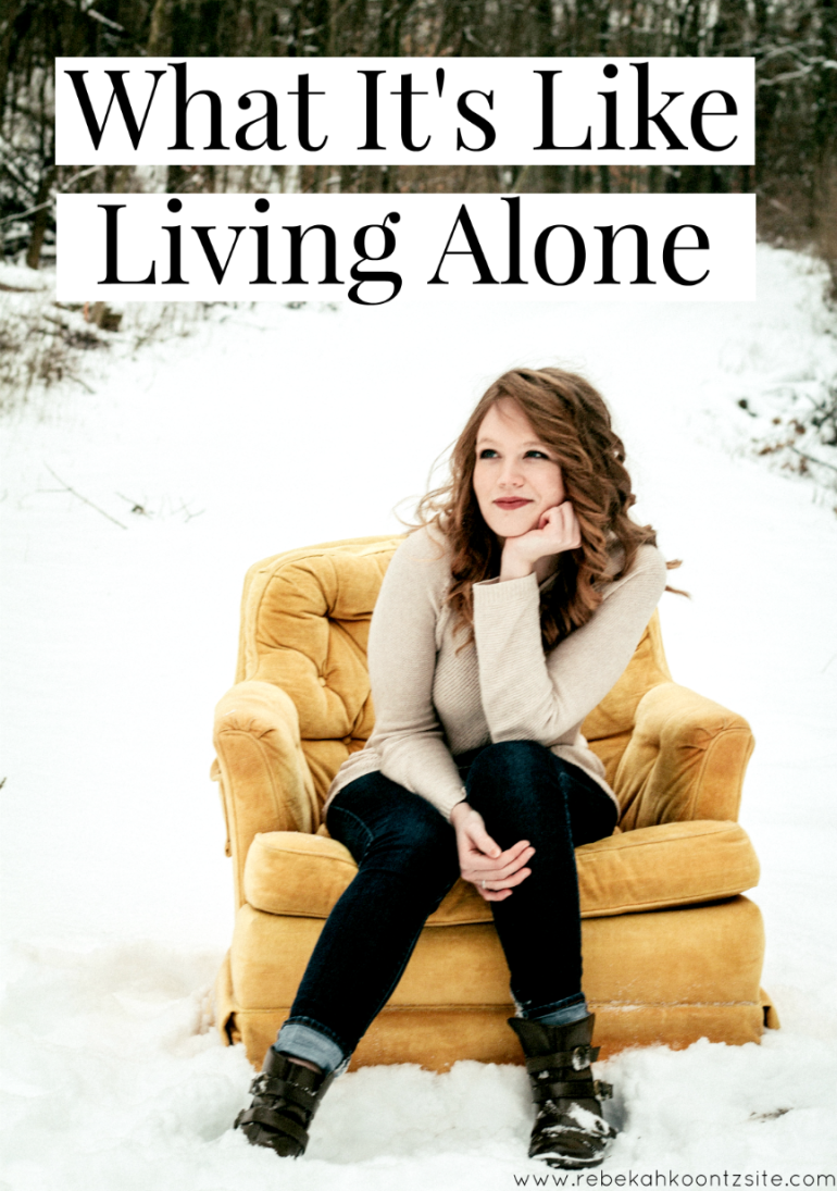 Rebekah Koontz what it's like living aone